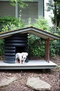 10 idees pour fabriquer une niche pour chien With cool dog kennel designs