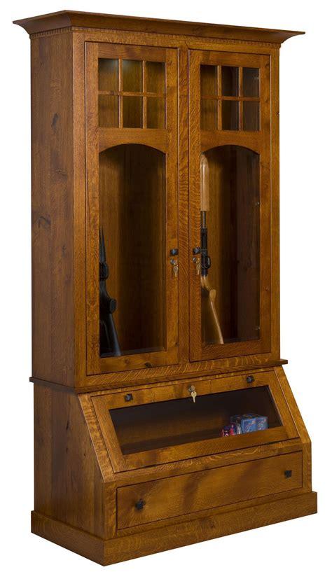 tribecca wood gun cabinet  dutchcrafters amish furniture