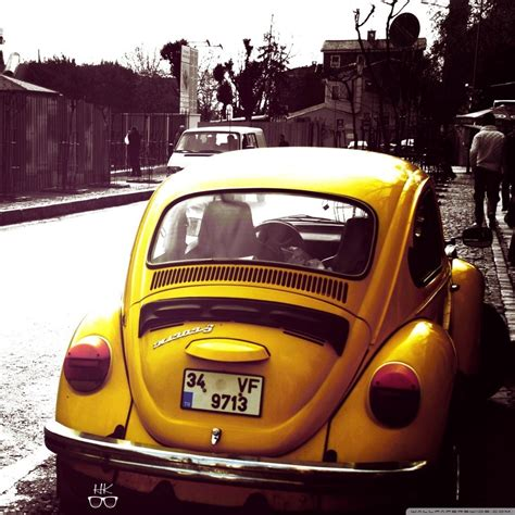 Volkswagen Beetle Yellow 4k Hd Desktop Wallpaper For 4k