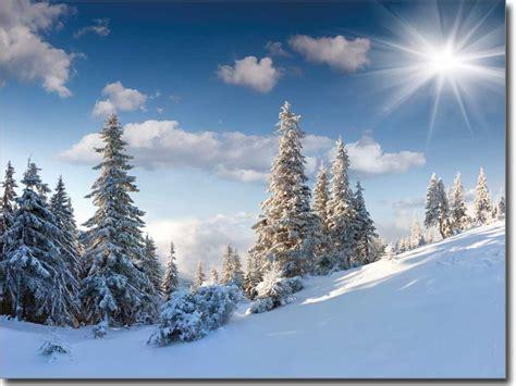 Im Winter by Landschaft Im Winter Hochwertiger Druck Auf Glas