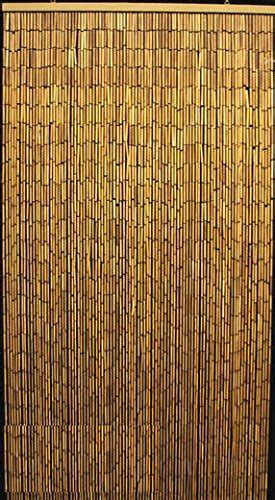 Master Garden Products Natural Beaded Bamboo Curtain, 36