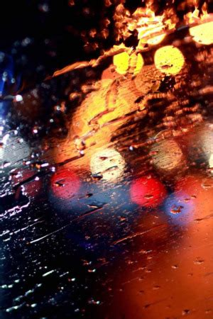 Download Rainy Windshield & Bokeh Iphone Wallpaper Mobile