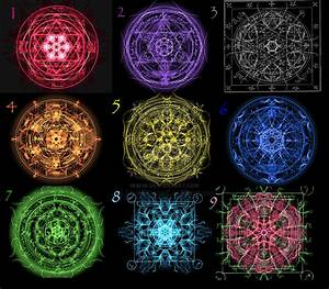 The first nine magic circles by SilentAssassinK on DeviantArt