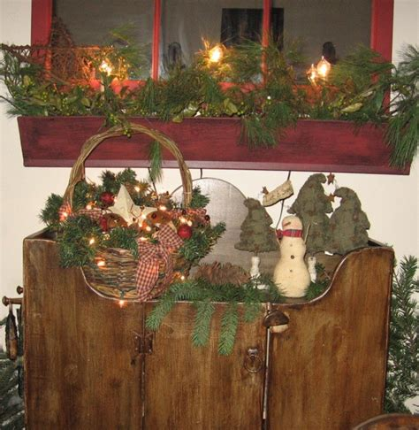 ideas  primitive christmas decorations creative home