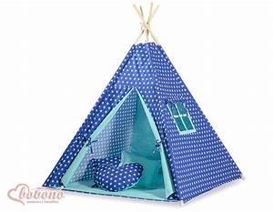 Tipi Pour Enfant : tipi teepee pour enfant avec textile bleu marine toil ~ Teatrodelosmanantiales.com Idées de Décoration