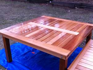 Ana White Simple Square Cedar Outdoor Dining Table - DIY