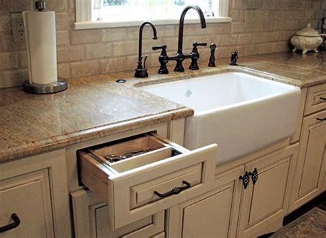 white farmhouse sink quartz counter tops irish cream cabinets  oil rubbed bronze fixt