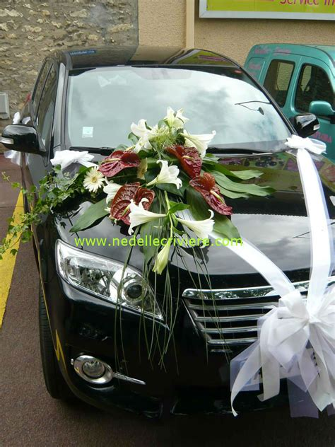 deco voiture de mariee deco voiture mariage et blanc