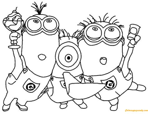minions celebrate  coloring pages cartoons coloring pages  printable coloring pages