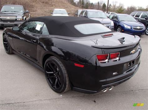 Black Convertible Camaro by Black 2013 Chevrolet Camaro Zl1 Convertible Exterior Photo