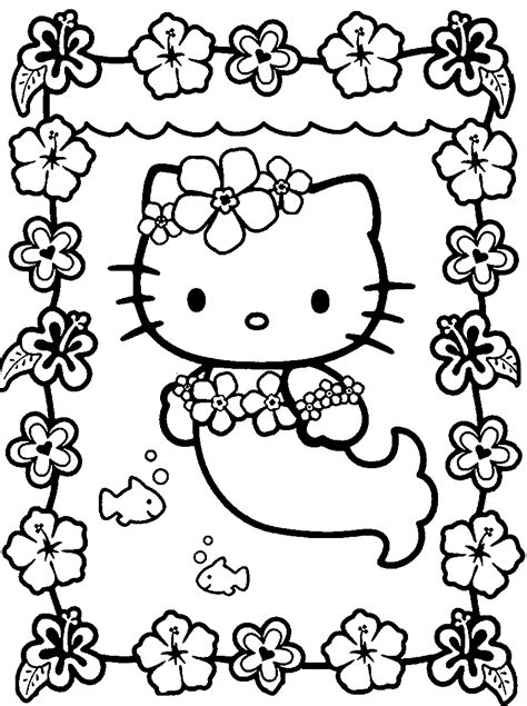 Free Coloring Pages: Hello Kitty Coloring Pages Hello