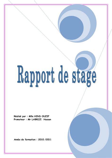 rapport de stage en cuisine exemple rapport de stage nagios