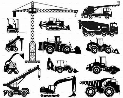Construction Equipment Mining Heavy Machinery Machines Vector