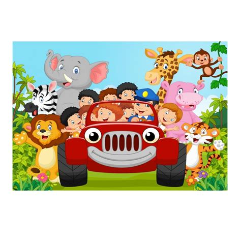 stickers muraux enfant g 233 ant voiture animaux jungle 15217 stickers muraux enfant