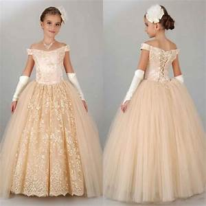 2016 vintage ball gown floor length cap sleeve flower girl With girl dresses for weddings