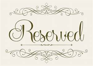 wedding seating reserved sign 5 x 7 With reserved seating signs template