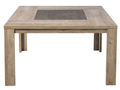 table de cuisine carree table carrée 140 cm brest coloris chêne vente de table