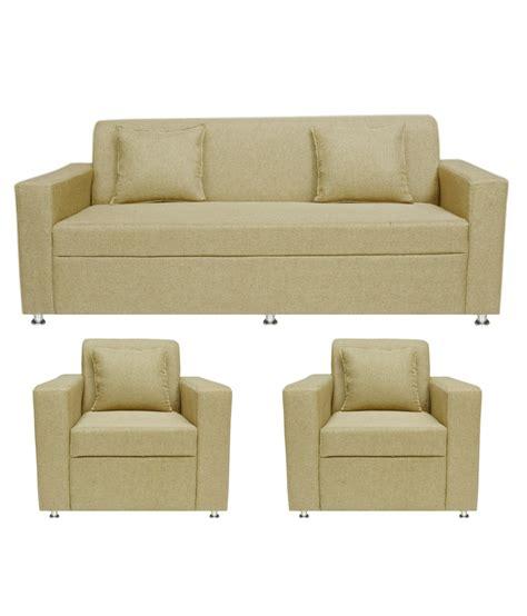 Sofa Set Deals Nj by Bls Lexus 3 1 1 Seater Sofa Set Rs 13 999 Gold Deals4m