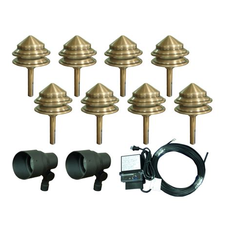 low voltage landscape lights kit shop portfolio 6 light