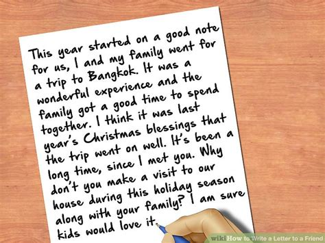 4 how do you write a letter to a friend resumed how to write a letter to a friend with pictures wikihow 71323