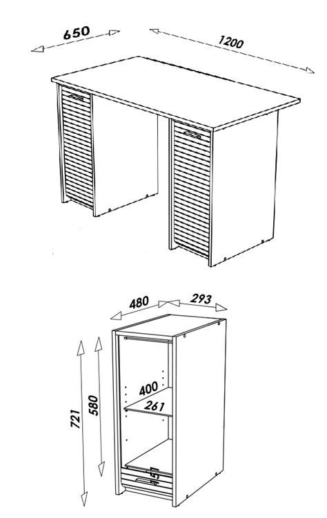 largeur bureau bureau blanc avec caissons et rideau coulissant decome store
