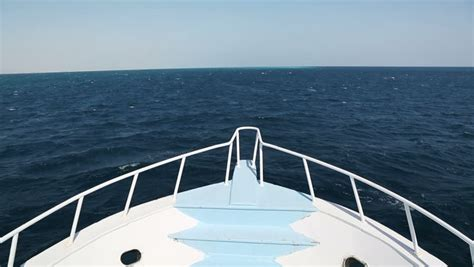 Bow Clip Boat by Float On The Deck Of A Cruise Boat View Of The Waves From