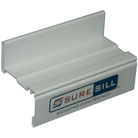 Window Sill Extension by Suresill 2 In White Sloped Sill Pan Extension Couplings