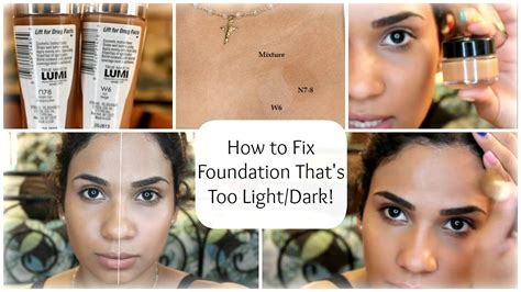 how to fix foundation that s light for you
