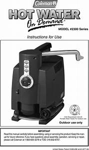 Coleman 2300 Series Users Manual 2300b050 Hot Water On Demand