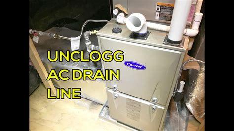 unclog ac drain  easy  youtube