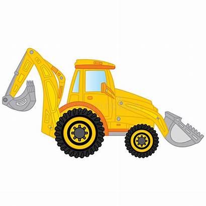 Digger Excavator Clipart Construction Excavatrice Machine Bagger