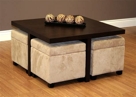 Ottoman With Stools Underneath by Coffee Table With Stools Underneath Comfy Ottoman