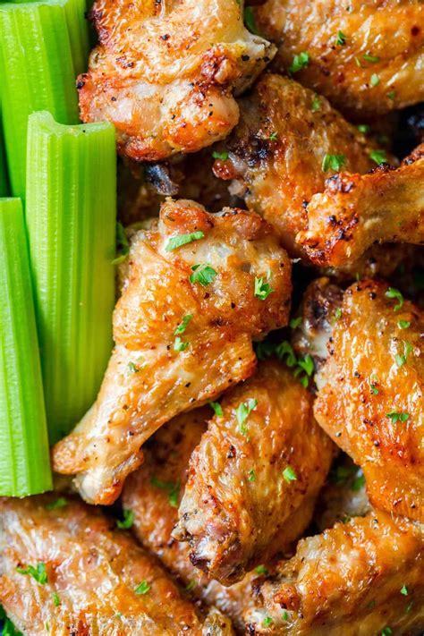 chicken air fryer wings skin recipes garlic natashaskitchen crisp salty crispy