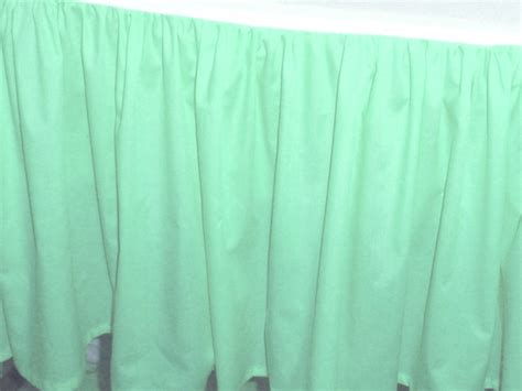 solid mint green colored swag window valance optional