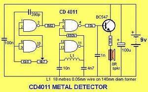 Cmos 4011 Metal Detector
