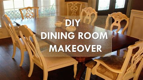 diy dining room makeover  chalk paint fabric youtube