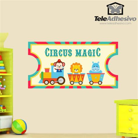 Wandtattoo Kinderzimmer Zirkus by Kinderzimmer Wandtattoo Circus Ticket 2