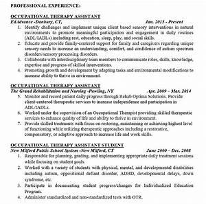 Cota Resumes Ota Resume Samples And Tips Pdf Doc Templates 2019