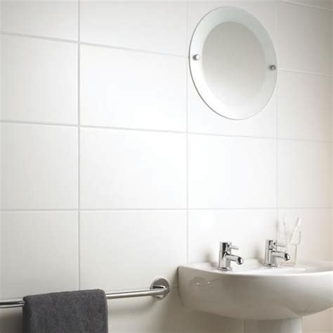 large white satin ceramic tile for your ensuite and even