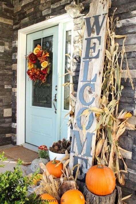 diy fall front door decorations the garden glove