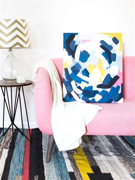diy layered abstract wall art sarah hearts