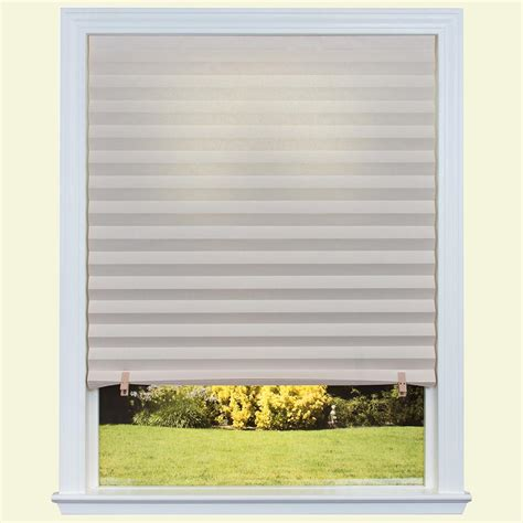 Paper Blinds by Temporary Shades Blinds Window Treatments The Home Depot