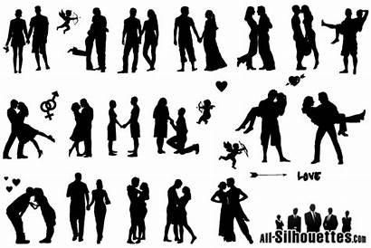 Silhouette Couple Romantic Clipart Silhouettes Casal Couples