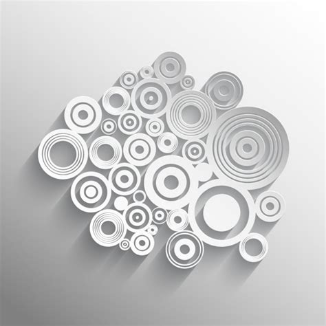 Abstract White Circle Black Background by Abstract White And Grey Background With Circles Vector