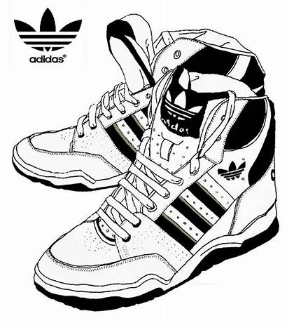 Coloring Adidas Shoes Pages Melting Sketch Stress
