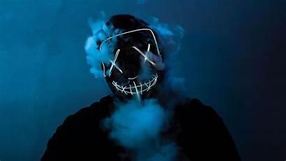 Purge Mask Neon Smoke Wallpapers Desktop 4k
