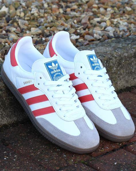 Adidas Samba Og Trainers White/Trace Scarlet - 80s Casual ...