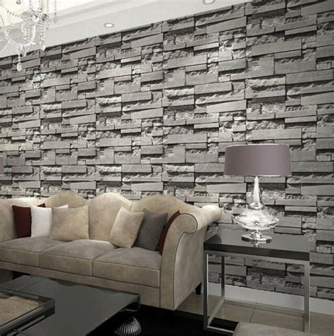 modernretro  wallpaper bedroom living slate dark grey
