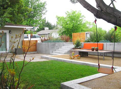 decomposed granite cost landscape contemporary with bench