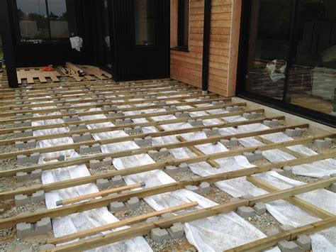 terrasse bois sur dalle beton nivrem montage terrasse bois composite sur dalle beton diverses id 233 es de conception de